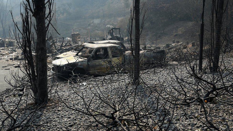 Kebakaran di California