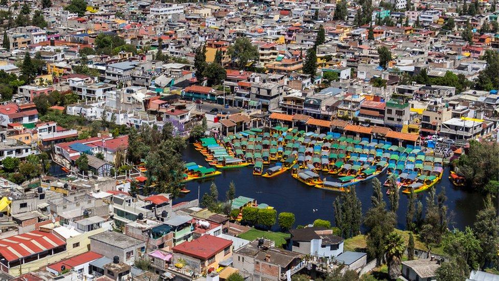 Xochimilco, en el sur de la ciudad.