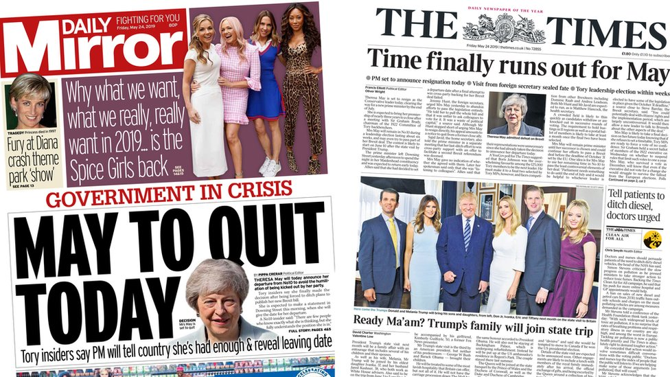 The Papers: 'Time finally runs out for May'