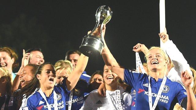 Chelsea Ladies celebrate WSL 1 title