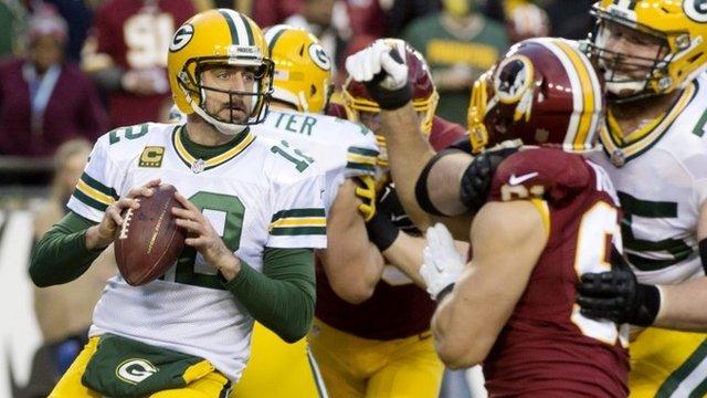 Green Bay quarterback Aaron Rodgers