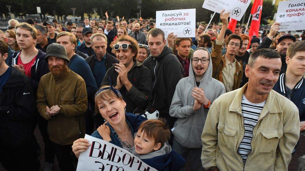 Unjuk rasa di Moskow