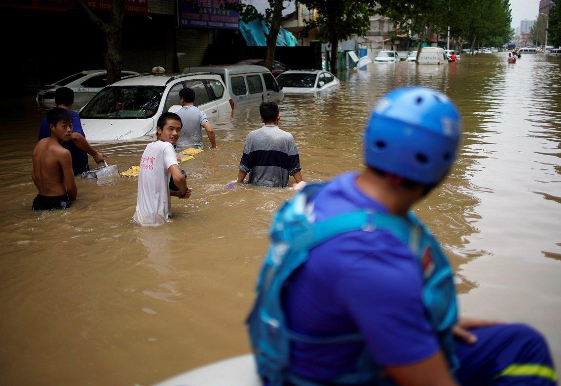 鄭州三天的降雨量幾乎等於一年的平均降雨量。