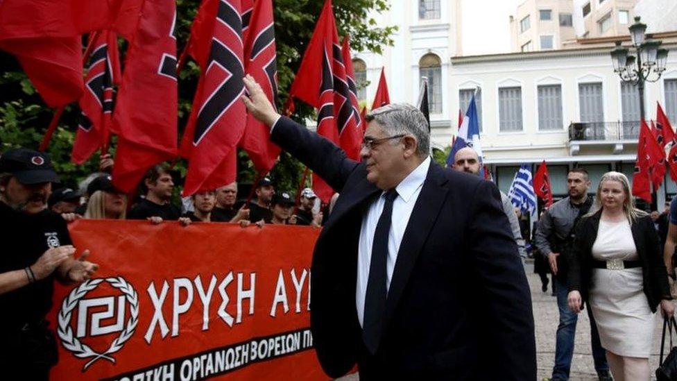 """زعيم حزب """"الفجر الذهبي"""" نيكوس ميكالولياكوس"""