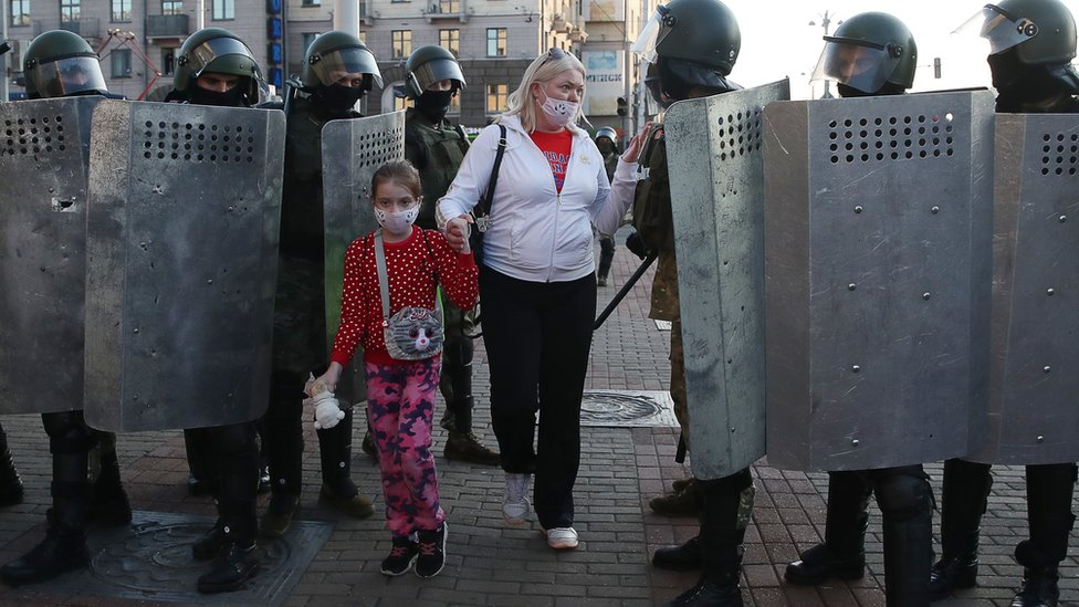 Police in Belarus detained 345 people at protests on Sunday - ministry