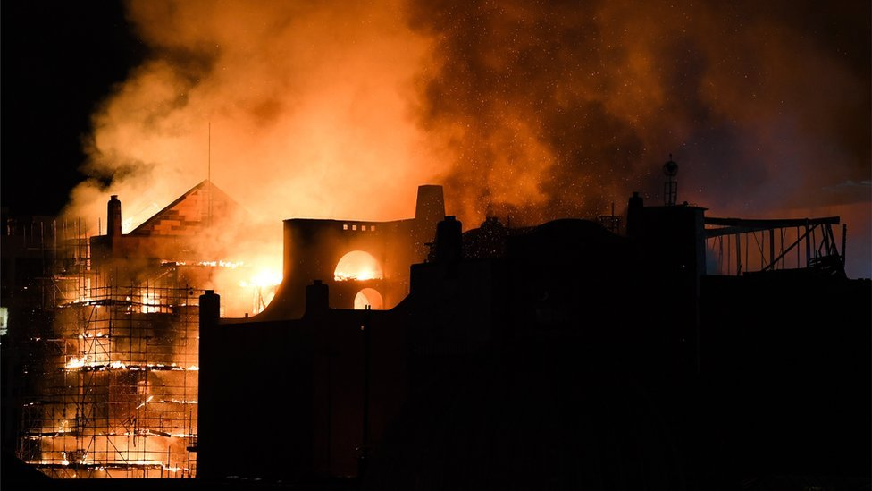 Residents and businesses hit out over art school fire support