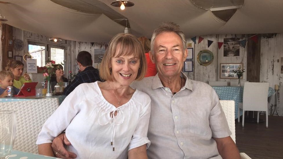 Ian Norton with his wife Andrea