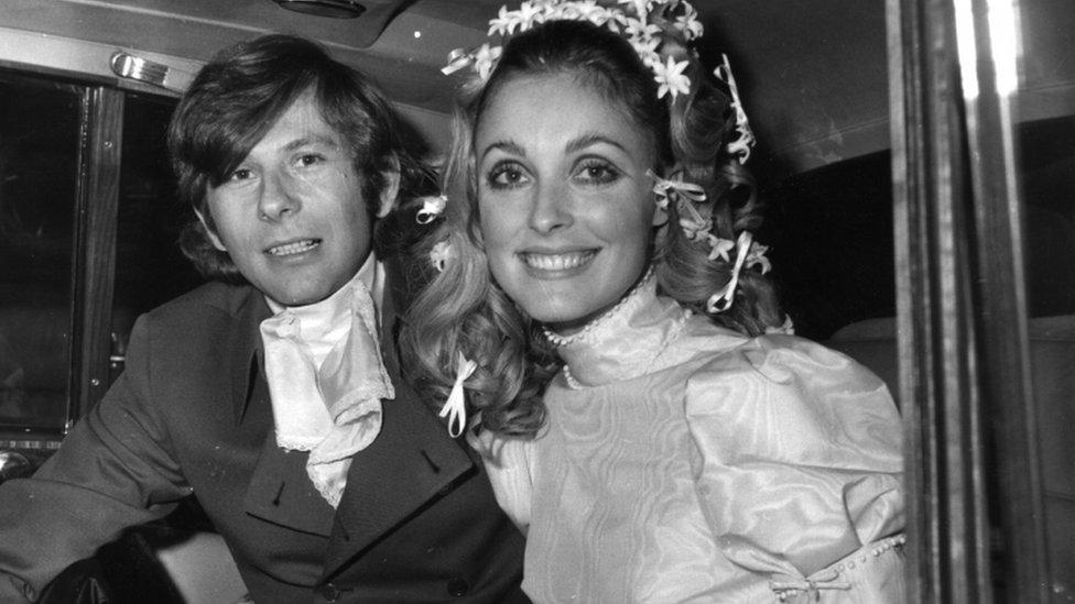 Roman Polanski y Sharon State en su boda.