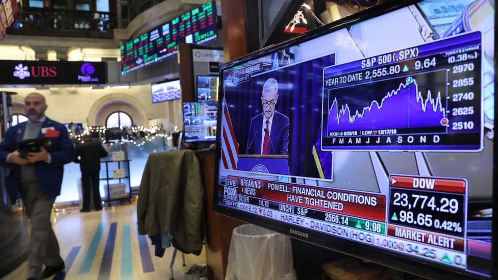 Bolsa de valores.