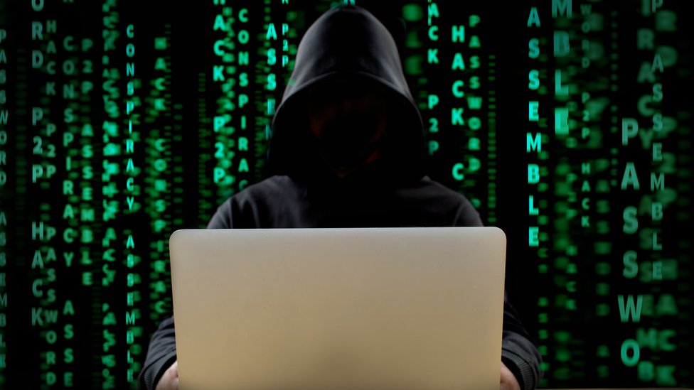 Generic picture of mysterious hacker