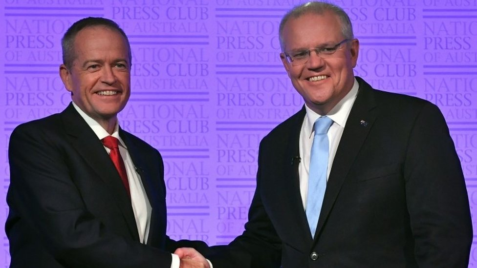 Scott Morrison ve Bill Shorten