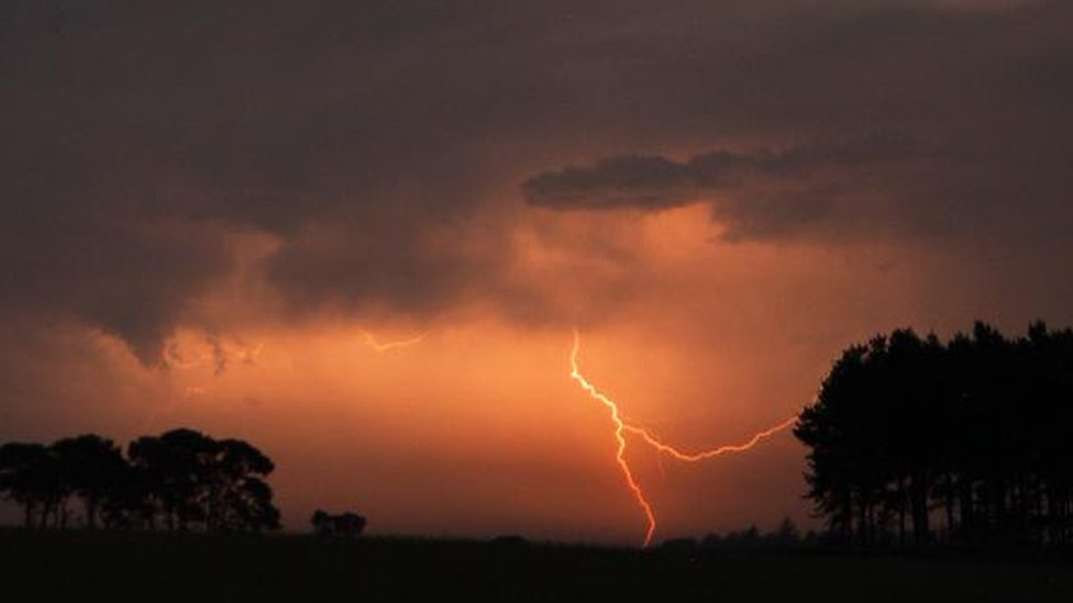 Storm chasing in the early hours of this morning in Kelso in the Scottish Borders