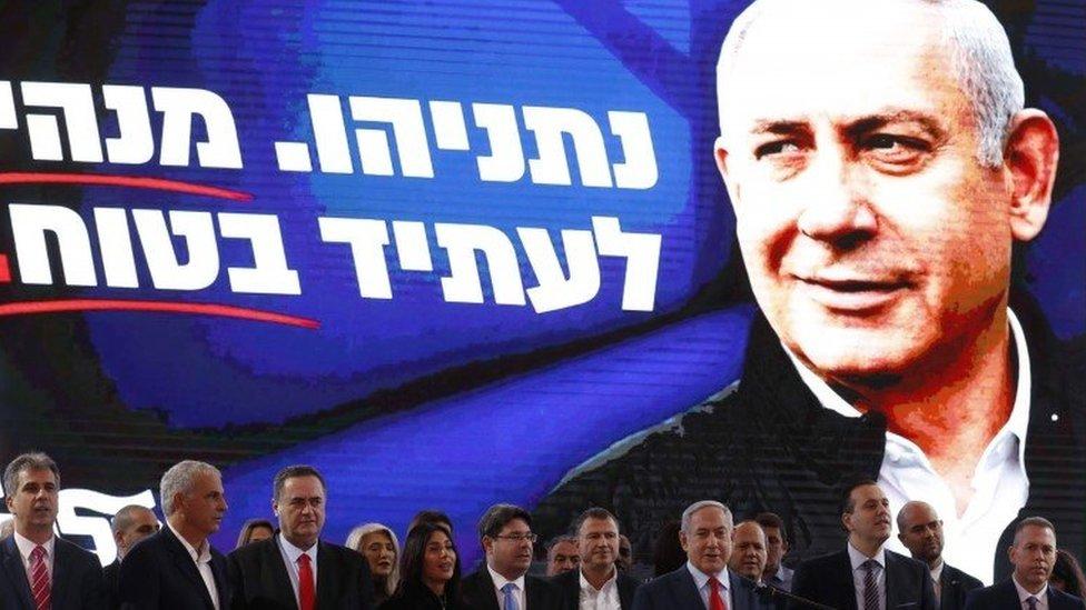 Benjamin Netanyahu at an event in Tel Aviv (01/03/20)