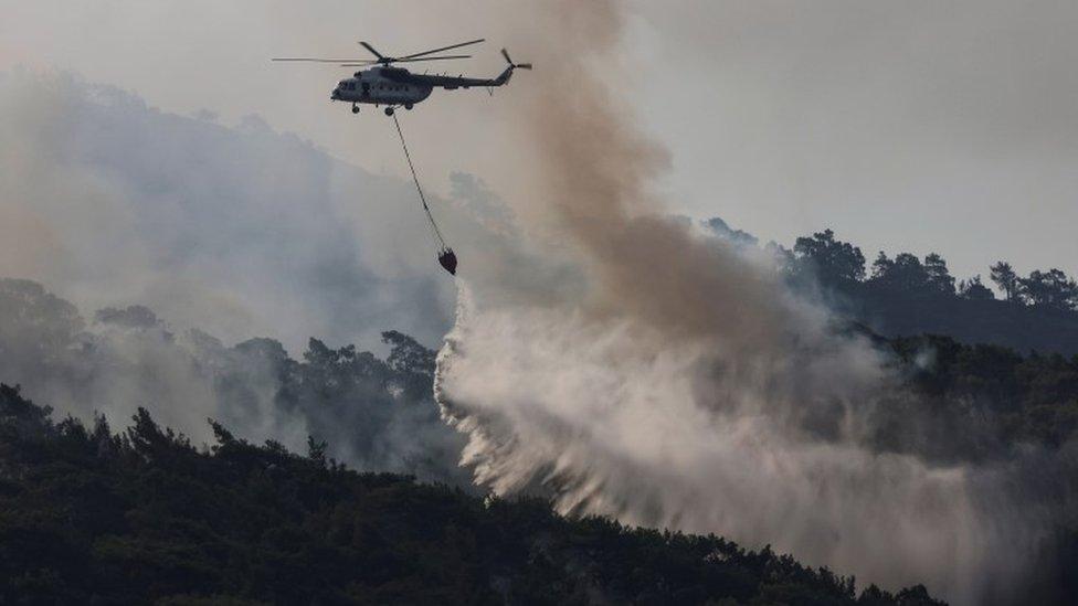 حرائق الغابات جنوب تركيا