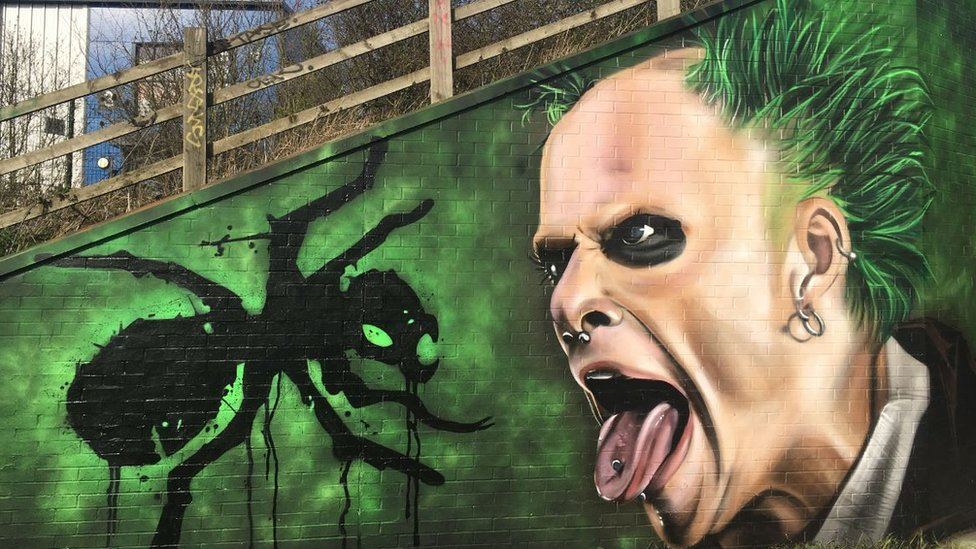Mural tribute to Prodigy's Keith Flint