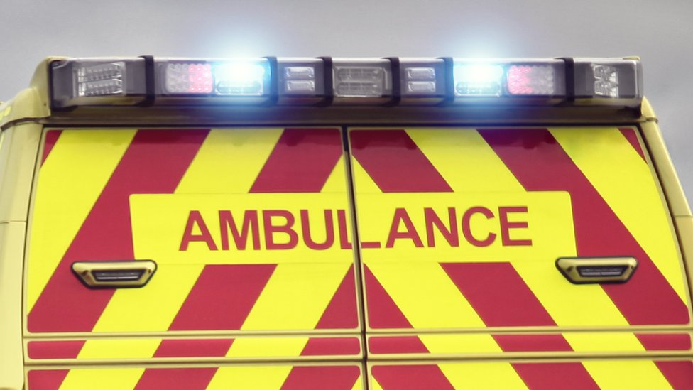 Medic struck by stone thrown through moving ambulance's window