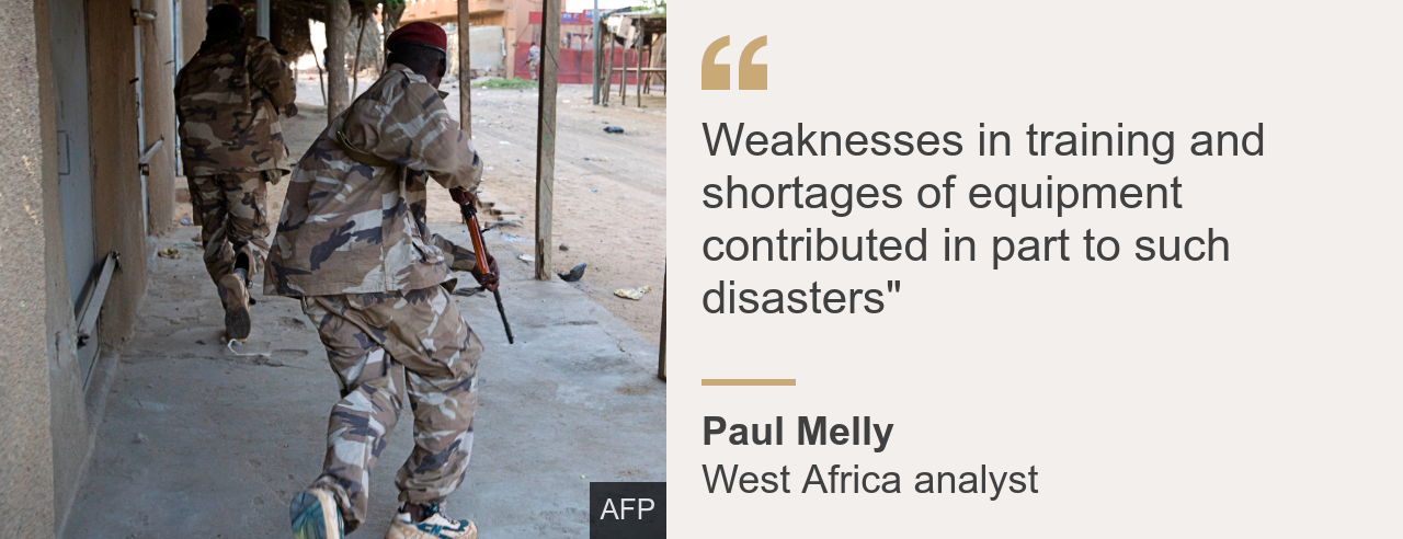 "Quote card. Paul Melly: ""Weaknesses in training and shortages of equipment contributed in part to such disasters"""