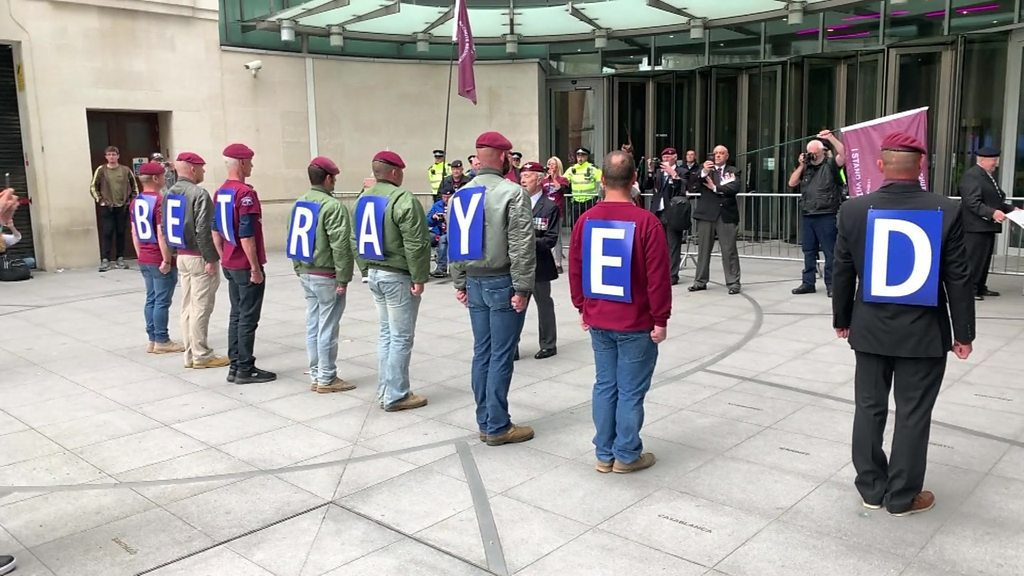 London protest held in support of British NI veterans