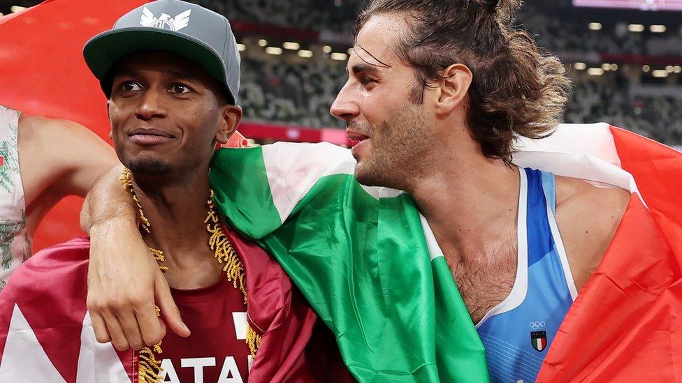 Mutaz Barshim and Gianmarco Tamberi
