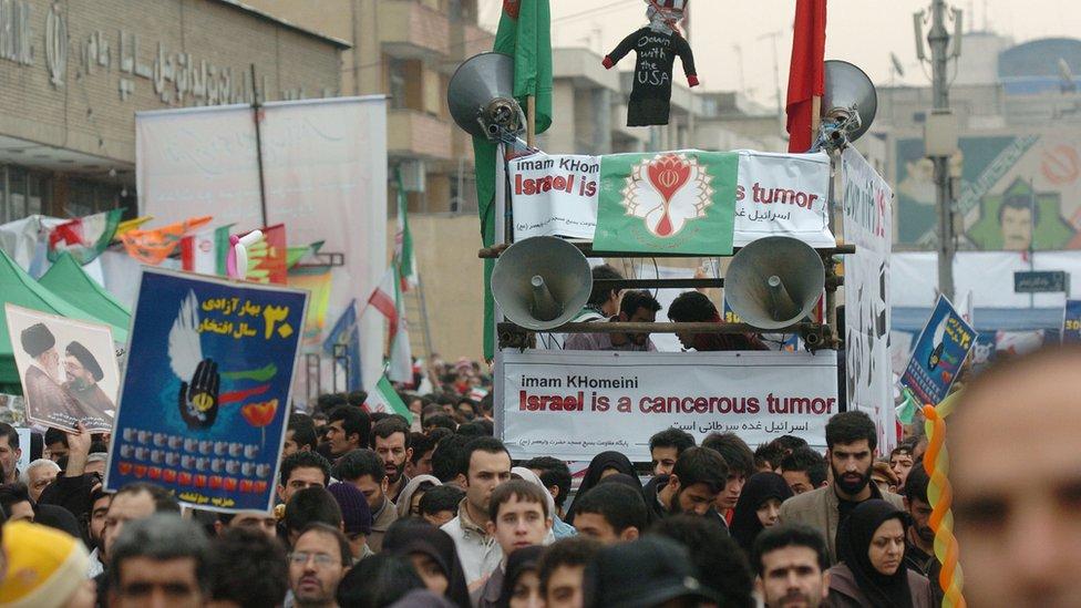 مظاهرة ضد إسرائيل في إيران