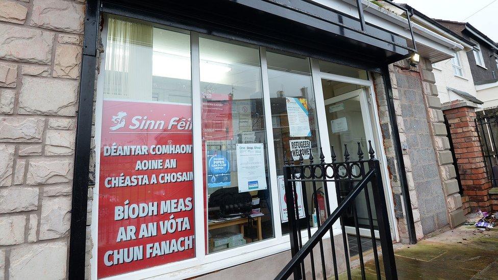 Sinn Féin's office in Turf Lodge