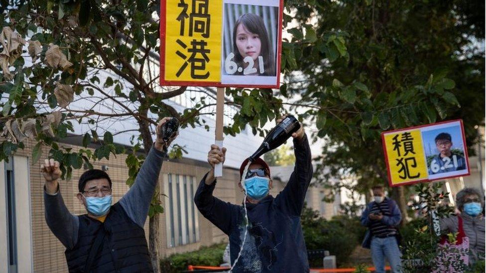 親北京人士指責黃之鋒、周庭等人禍港。