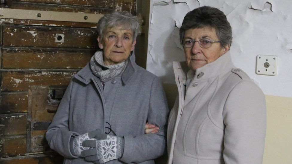 Jean Harris and Pat Fisher at Naumburg (Saale) prison