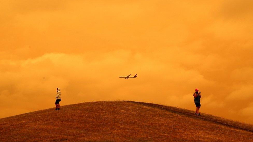 Cielo cubierto de humo en Australia.