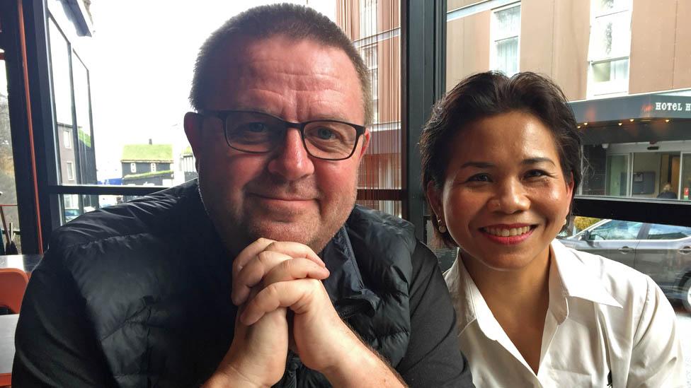 Kristjan Arnason and his wife Bunlom