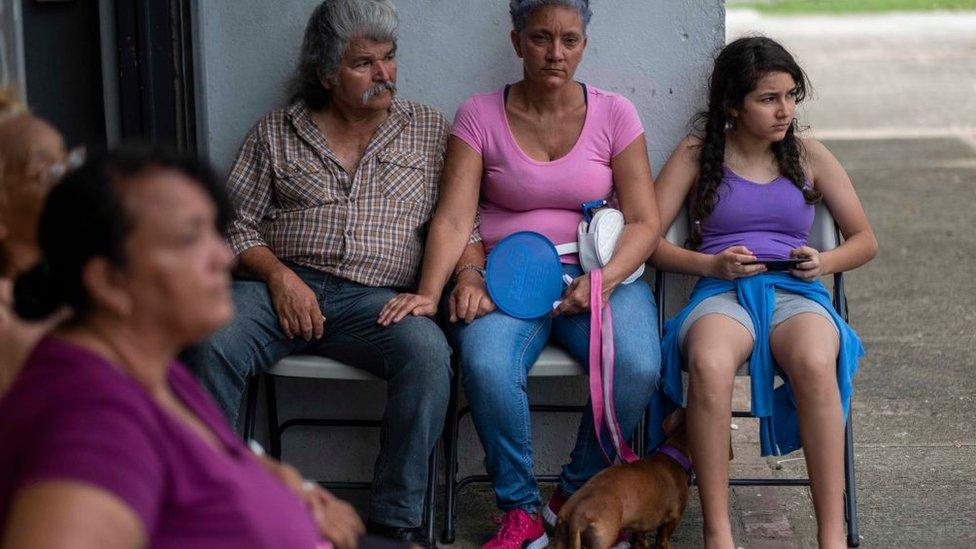 personas afectadas por el sismo en Puerto Rico