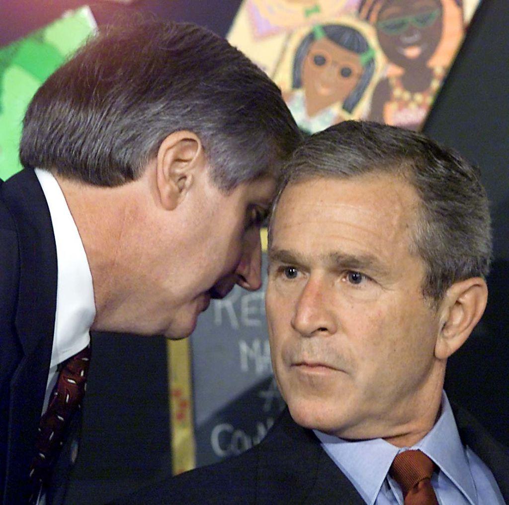 Andy Card y George Bush.