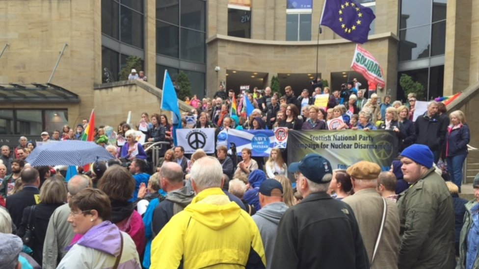 Demonstration in Glasgow