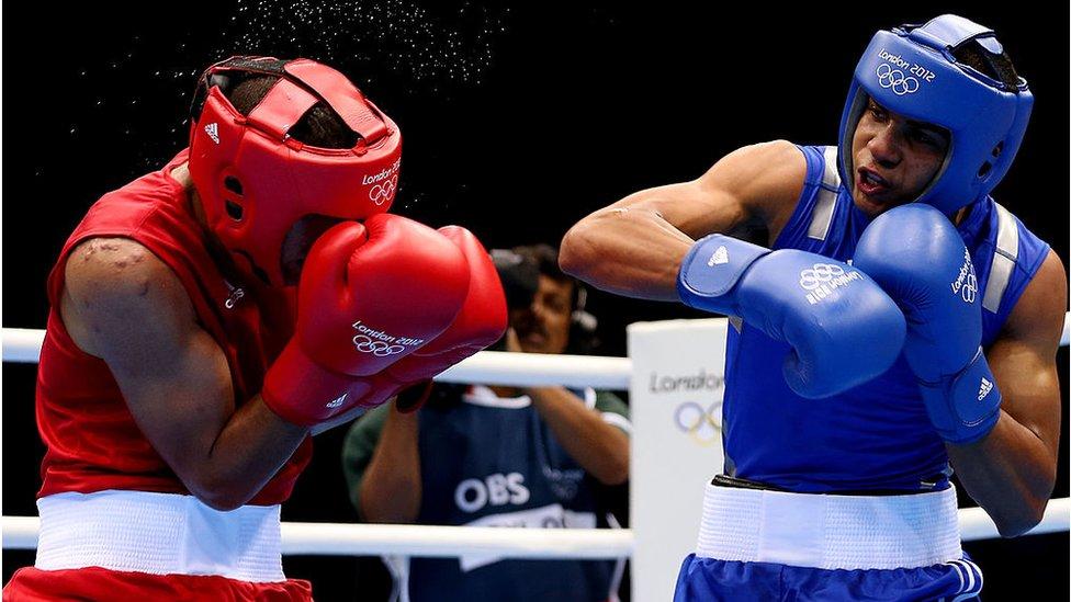 Verdejo (à direita) lutou nas Olimpíadas de 2012