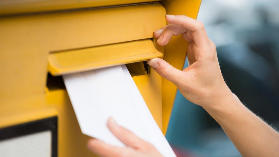 carta por correo