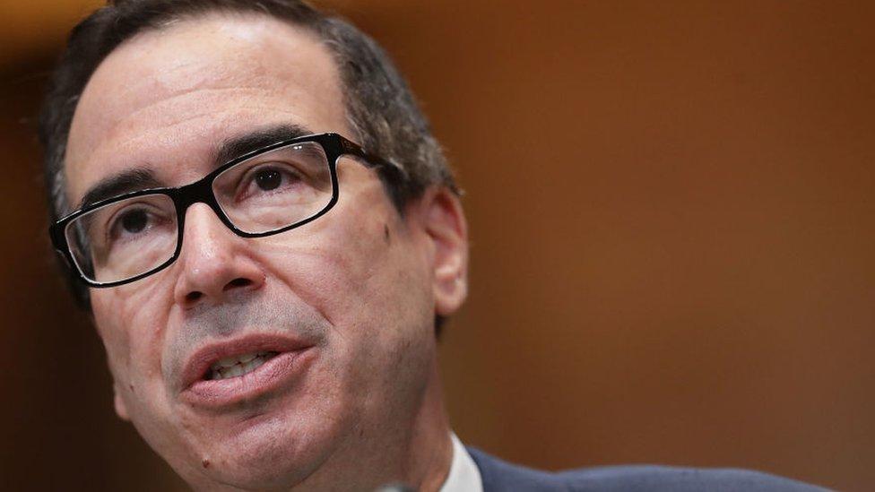 Mnuchin calls big US banks after huge stock market falls