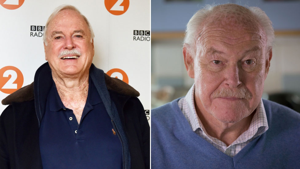 Comedian John Cleese and actor Timothy West