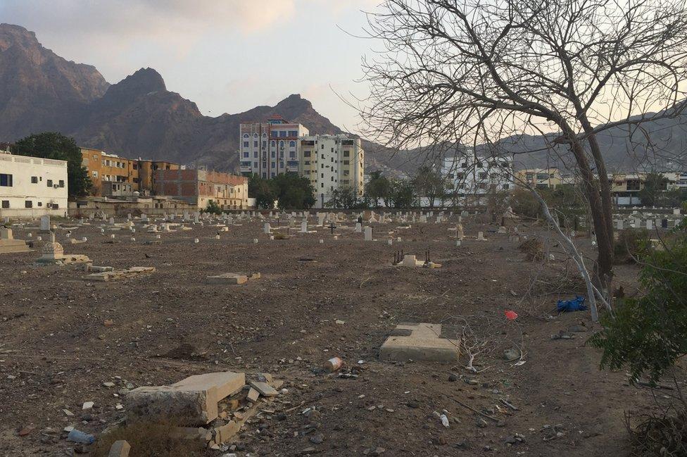 The Maala cemetery in Yemen is full of broken and dilapidated stones