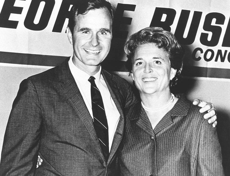 1960年代的老布什和夫人芭芭拉