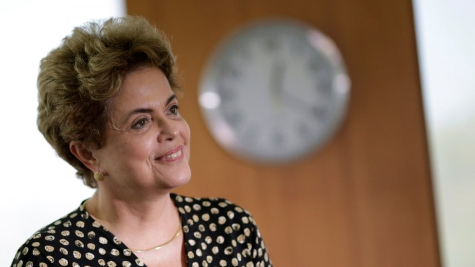 Brazil's President Dilma Rousseff smiles during a meeting with Secretary General of the Organization of American States (OAS)