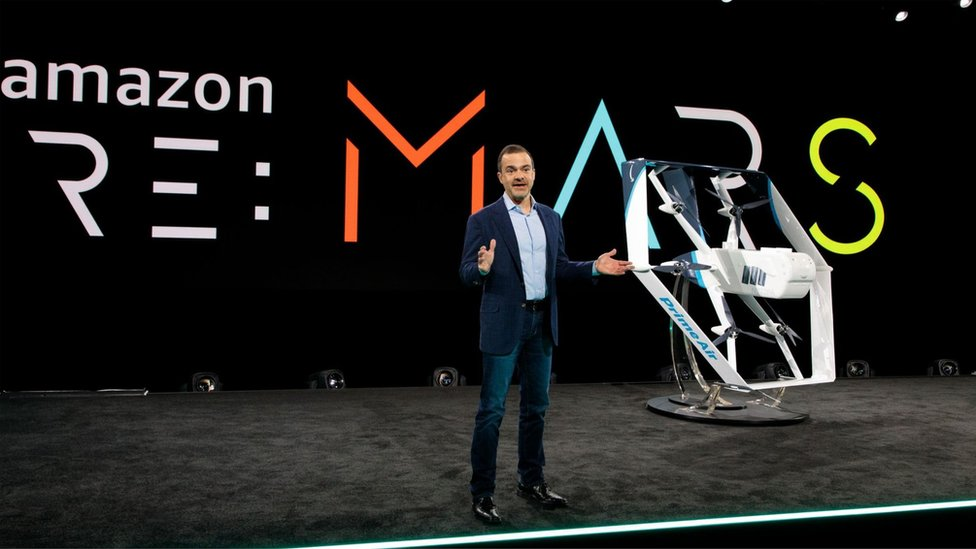 Amazon executive Jeff Wilke said the drone had been engineered to minimise noise