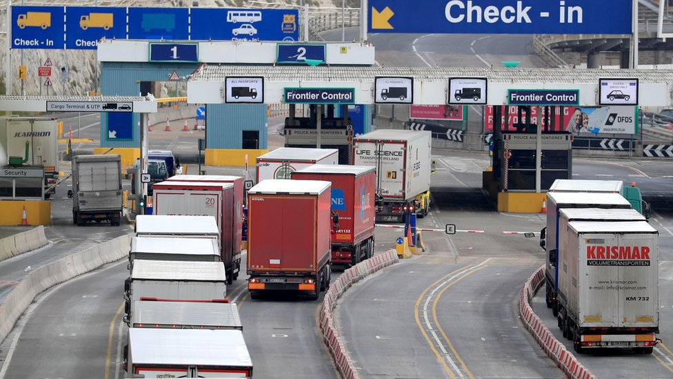 Lorries at Port of Dover