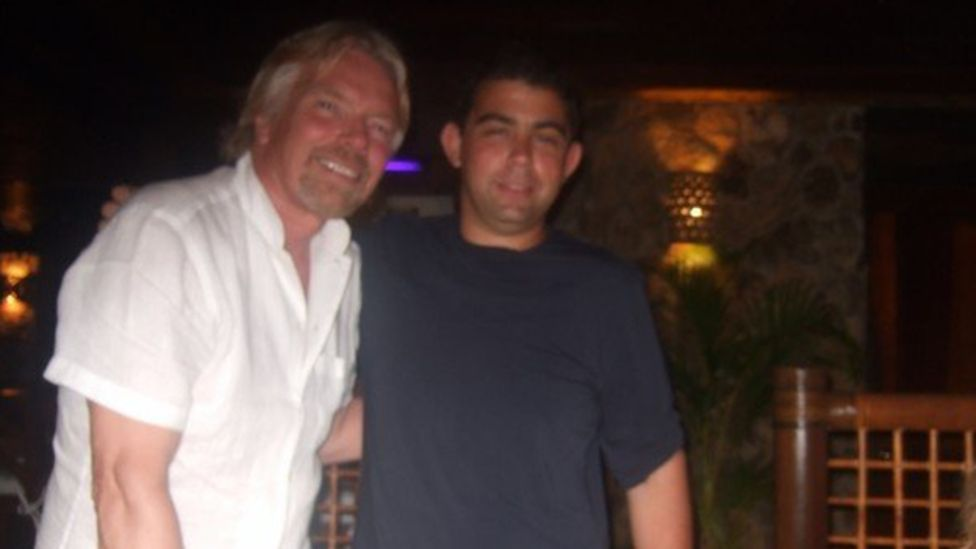 Andrew Michael y Richard Branson.