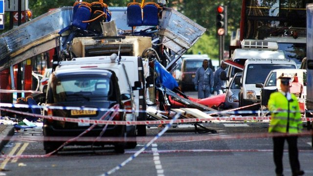 Aftermath of 7/7 attacks in London