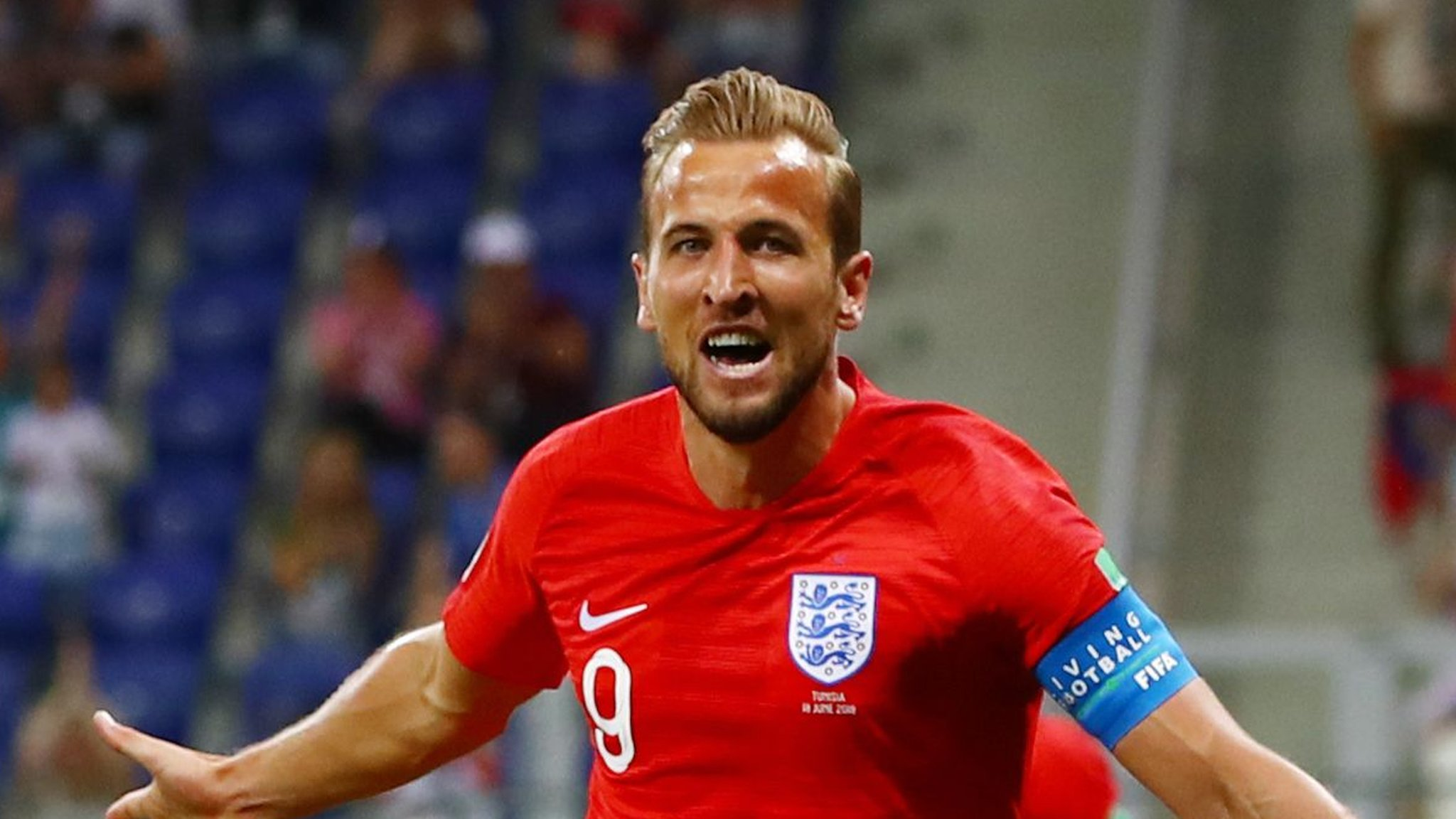 World Cup 2018: Harry Kane gives England 1-0 lead against Tunisia