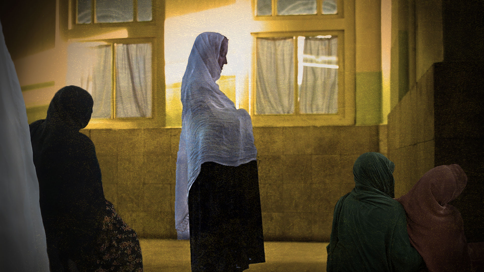 Afghan birth centre, illustration