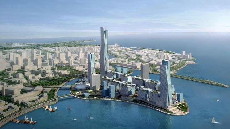 Model showing planned King Abdullah Economic City (file photo)
