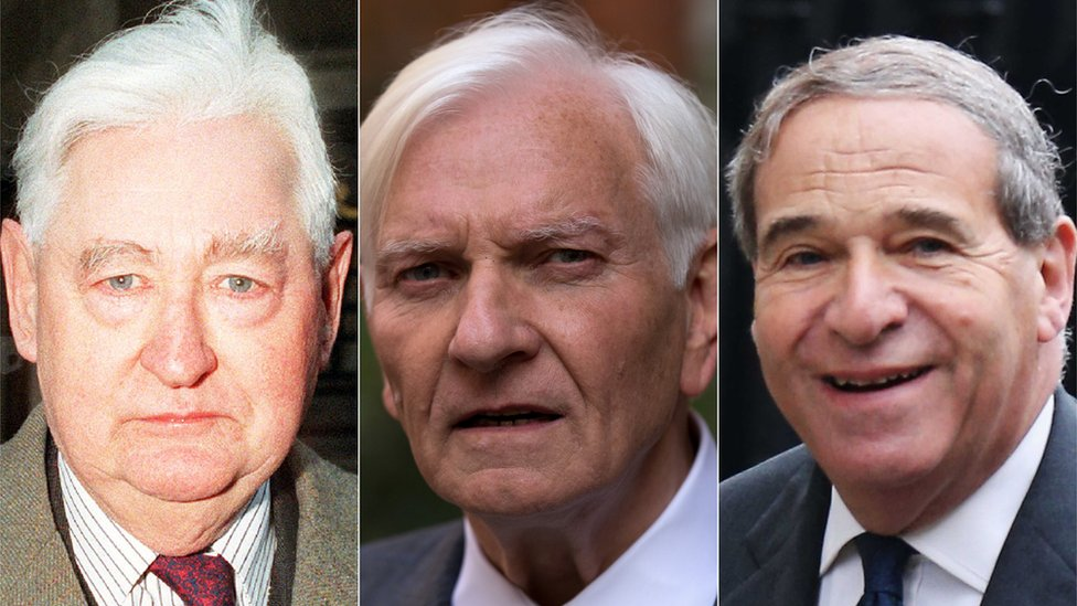 Lord Bramall, Harvey Proctor and Lord Brittan