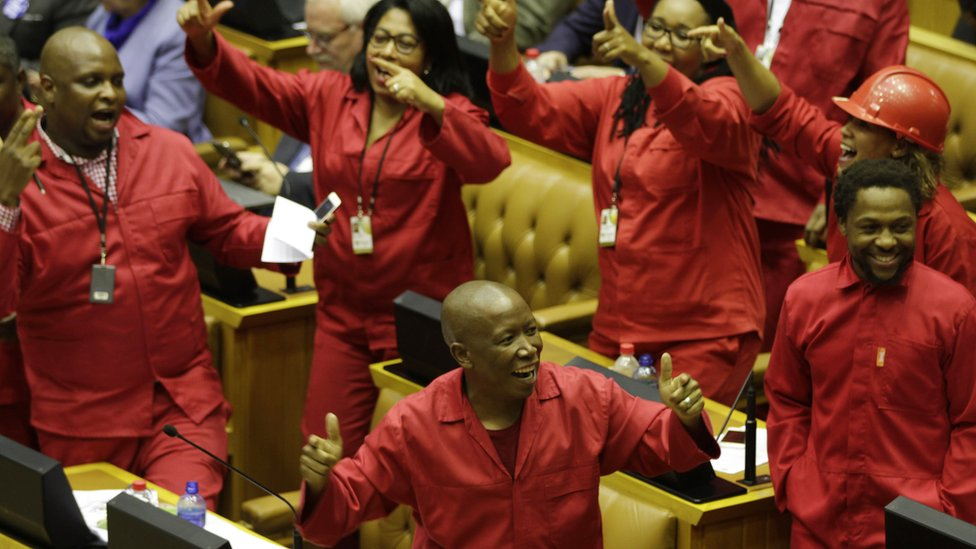 EFF MPs in parliament