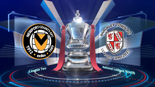 FA Cup highlights: Newport 4-1 Brackley Town