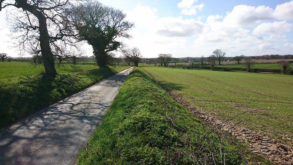 Camino por el que April Fabb fue en bicicleta